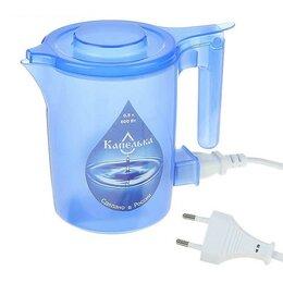 Электрочайники и термопоты -  Чайник электрический Капелька, 600 Вт, 0.5 л, пластик, синий, 0