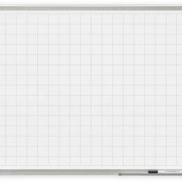 Доски - Доска магнитно-маркерная, разлинованная в клетку, 120*90 см, 0