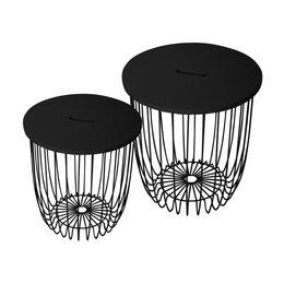 Столы и столики - Журнальный столик круглый черный 40,5 см Easy, 0
