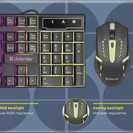 Комплекты клавиатур и мышей - Набор с подсветкой (клавиатура+мышь) Defender Sydney C-970, 0