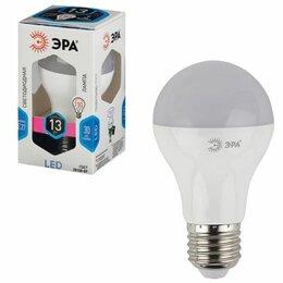 Лампочки - Лампа светодиодная ЭРА, 13 (110) Вт, цоколь E27, грушевидная, холодный белый све, 0