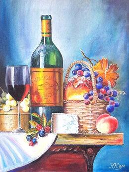 """Картины, постеры, гобелены, панно - Картина маслом на холсте """"Столовый натюрморт"""", 0"""