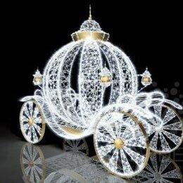 Новогодний декор и аксессуары - Световая Карета (плетеная) - цвет на выбор, 0