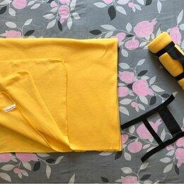 Пледы и покрывала - Новый желтый плед, 155 см. * 125 см. для пикника, 0