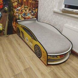 """Кроватки - Кровать - машинка """" Ламба Желтая с подъемным механизмом"""", 0"""