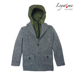 Пальто и плащи - Шерстяное серое детское пальто для мальчика, с…, 0