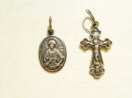 Кулоны и подвески -  Серебряный кулон-ладанка и серебряный крестик., 0