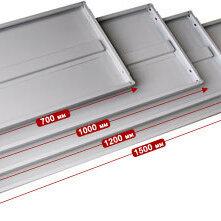 Витрины - Полка металлическая для стеллажей серии СТФ; СТ; МС; MS..., 0