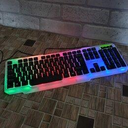 Клавиатуры - Клавиатура проводная  бело-чёрная, USB, с…, 0
