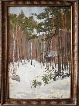 """Картины, постеры, гобелены, панно - Пейзаж """"Зима в пригороде"""", 0"""
