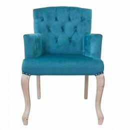 Кресла - Кресло с мягкими подлокотниками голубое Deron от…, 0