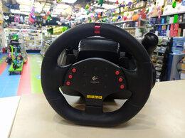 Рули, джойстики, геймпады - Руль Logitech MOMO Racing PC/PS3 (б/у), 0
