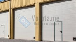 Заборы и ворота - Белые секционные ворота для промышленных зданий, 0