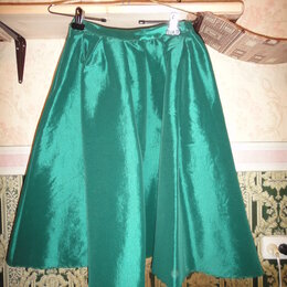 Юбки - Ярко-зеленая юбка-колокол, 0