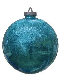 Новогодний декор и аксессуары - Шар 25 см, бирюзовый, 0
