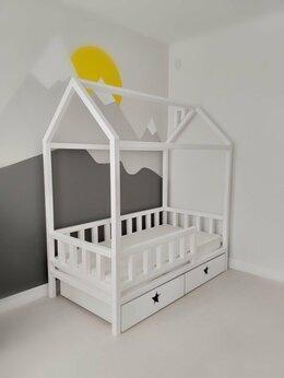 Кроватки - Детская кровать домик , 0