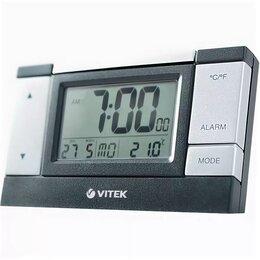 Метеостанции, термометры, барометры - Новая Метеостанция Часы Будильник Vitek VT-3543 bk, 0