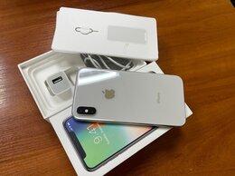 Мобильные телефоны - Apple iPhone X 256Gb Silver, оригинальное сост, 0