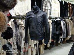 Куртки - Куртка кожаная мужская стильная натуральная, 0