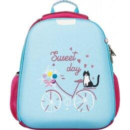 Рюкзаки, ранцы, сумки - Ранец №1 School Basic Кот на велосипеде, 0