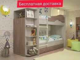 Кровати - Двухъярусная кровать Мая с ящиками и шкафом, 0