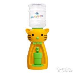 Кулеры для воды и питьевые фонтанчики - Детский кулер акваняня кошка желтая С зеленым, 0