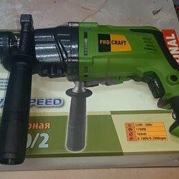 Дрели и строительные миксеры - Ударная дрель Procraft PS-1700/2 (2-х скоростная), 0