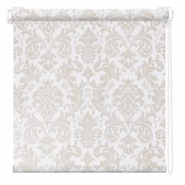 Римские и рулонные шторы - Мини-штора рулонная Дамаск 47х175 белый, 0