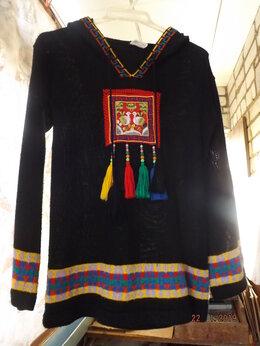 Блузки и кофточки - Туника с капюшоном, 0