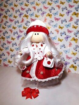 Куклы и пупсы - Кукла Тильда в красном цвете, 0