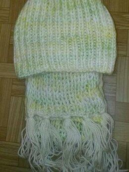 Головные уборы - Шапка и шарф для девочки , 0