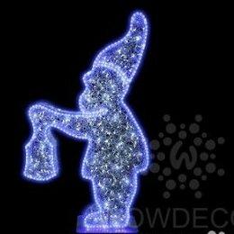 Новогодний декор и аксессуары - Световая фигура Гном Twinkle (цвет на выбор), 0