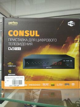 ТВ-приставки и медиаплееры - Ресивер DVB-T2/C Perfeo Consul , 0
