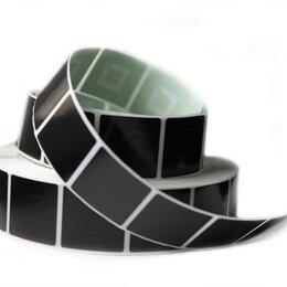 Расходные материалы -  Этикетка противокражная 40х40 мм, черная, 2000 шт, 0