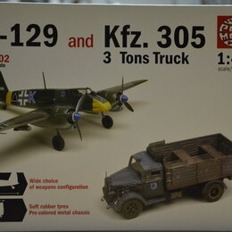 Сборные модели - Сборная модель 1\48 Самолёт HS-129 и Грузовик Kfz. 305 3т., 0