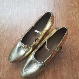 Туфли - Туфли бальные новые (кожа, р. 38, каблук 6 см.), 0