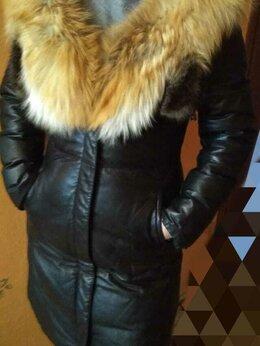 Дубленки - пальто-дубленка женское  кожаное, 0