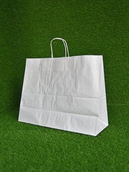 Пакеты - Крафт пакет с кручеными ручками, 350х450х150 мм…, 0