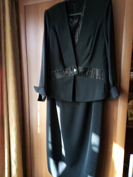 Костюмы - Костюм женский, платье и пиджак, новый , 0