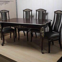 Столы и столики - Стол Афина Роза и стулья Опера (массив бука), 0