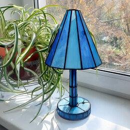 Настольные лампы и светильники - Настольная лампа-ночник в голубых тонах, 0