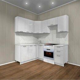 Мебель для кухни - Кухня угловая ✅ Белый глянец 1.6х2.0м, 0