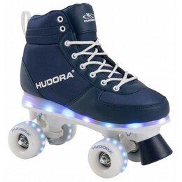 Обувь для спорта - Ролики-квады HUDORA Advanced LED с подсветкой р.35/36 (синие), 0