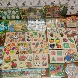 Пазлы - Пазл рамки Развивающие игрушки деревяшки новые, 0