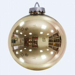 Новогодний декор и аксессуары - Шар золотой 200 мм, зеркальный, 0