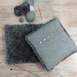 Декоративные подушки - Подушка с декоративным чехлом в сером цвете, 0