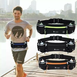 Дорожные и спортивные сумки - Сумка поясная для бега с бутылками для воды, 0