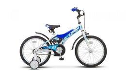 """Велосипеды - Велосипед 18"""" STELS Jet (10"""" Белый/синий) арт.…, 0"""
