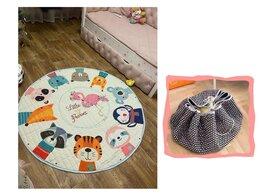 Развивающие коврики - Новый коврик-мешок 150см (фламинго с друзьями), 0
