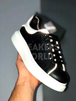 Кроссовки и кеды - Кеды Alexander McQueen черно-белые рефлектив, 0